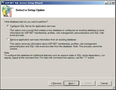 Configure SQL Server for application services