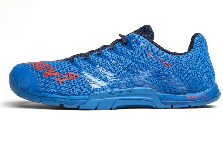 Inov-8 Mens Neon Blue Crossfit shoes on Rogue Fitness