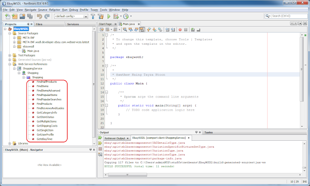 Consume eBay Web Service using NetBeans - Enterprise Systems & SOA