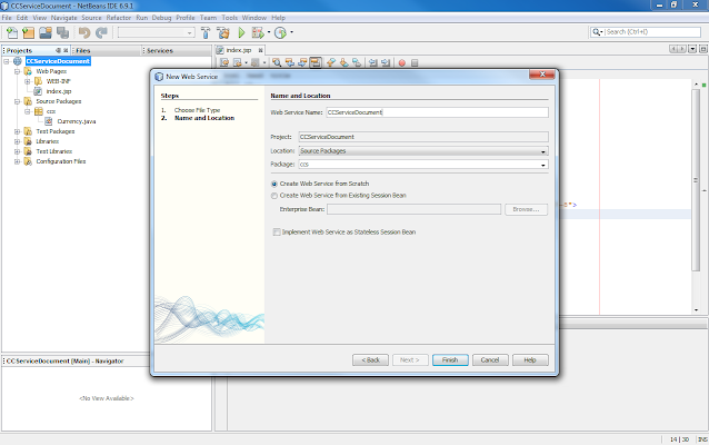 Currency Converter Web Service Using NetBeans & Glassfish