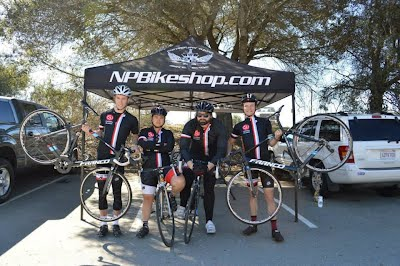 Representing our sponsors at UCSC Road Race