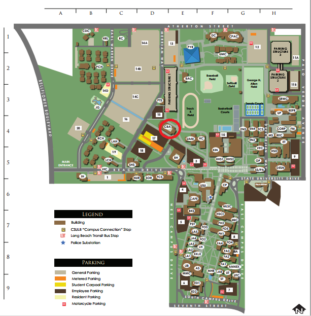 Csulb Parking Map Parking/Directions   CSULB Medieval and Renaissance Students  Csulb Parking Map