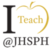 I Teach @ JHSPH golden apple logo