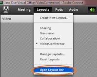 screen clipping of Connect Layouts drop-down menu