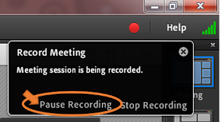screen clipping from Connect showing recording information box