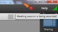 screen clipping from Connect showing an active recording icon