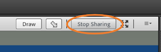 Adobe Connect's option to stop sharing a document in the host's share pod
