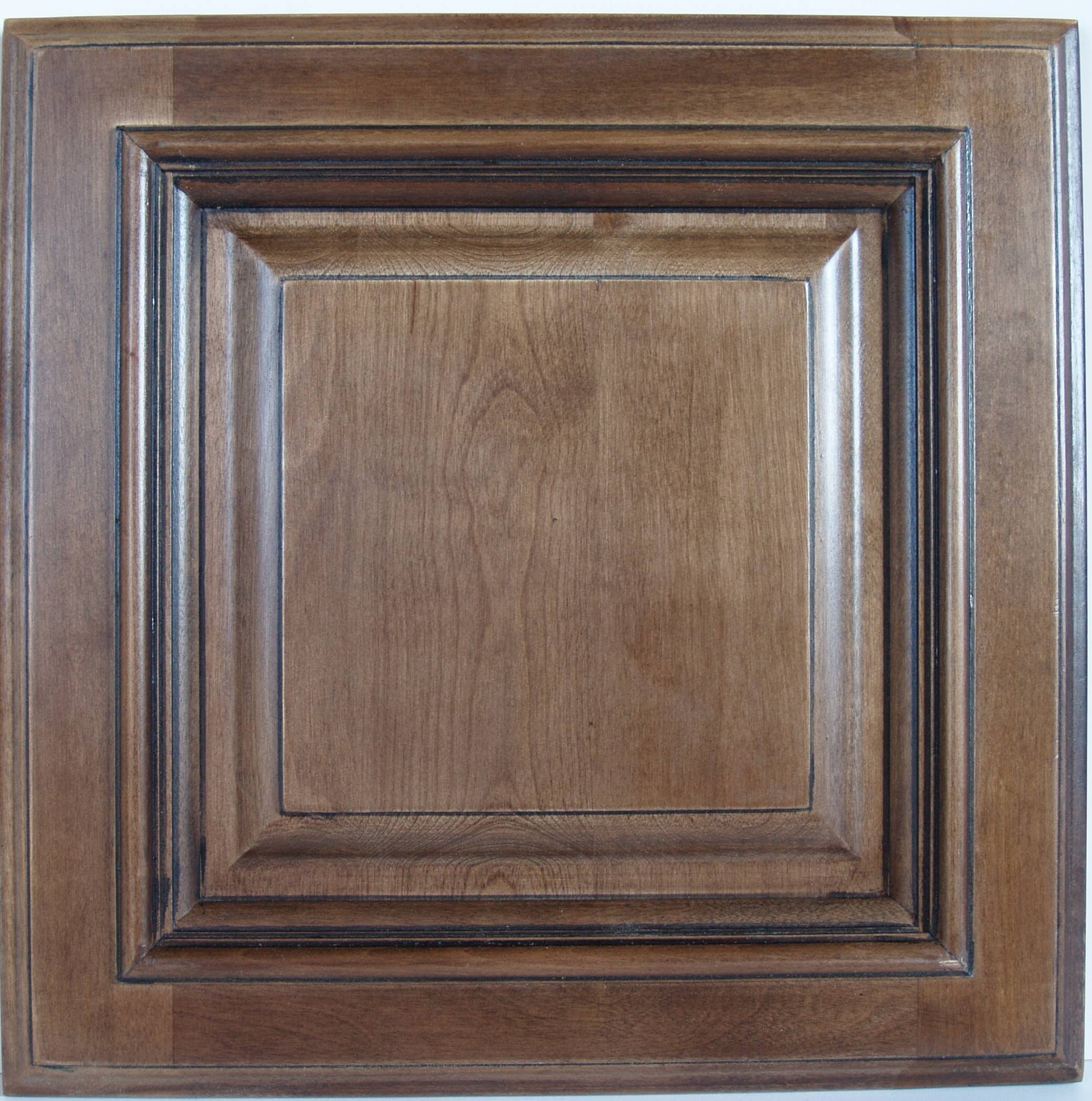 Elegant This door is solid maple raised panel and has a Chestnut glaze finish for a rich look The cabinet is an all wood construction no particle board