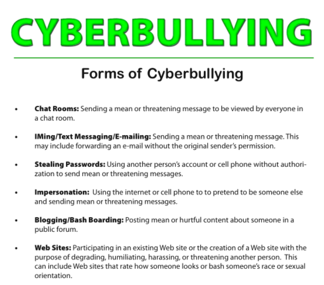 new form of bullying cyberbullying essay The purpose of this essay is to explore diverse forms of bullying according to mul- tiple theoretical frameworks of of the internet, a new form of bullying has become prevalent: cyberbullying or cyber aggression different are often administered in the school setting some cyberbullying studies have recruited participants.