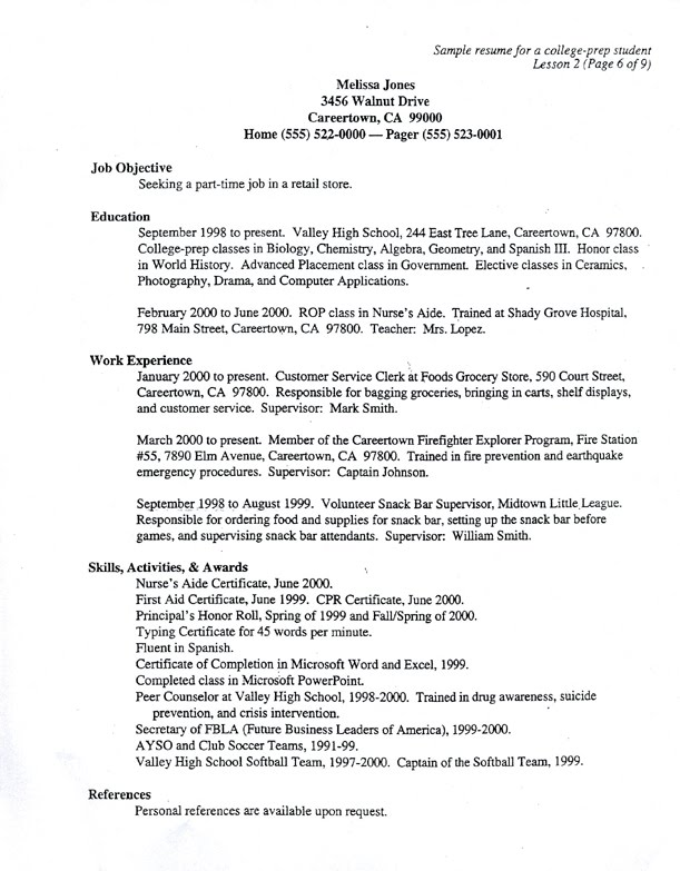 sample resume questions and answers