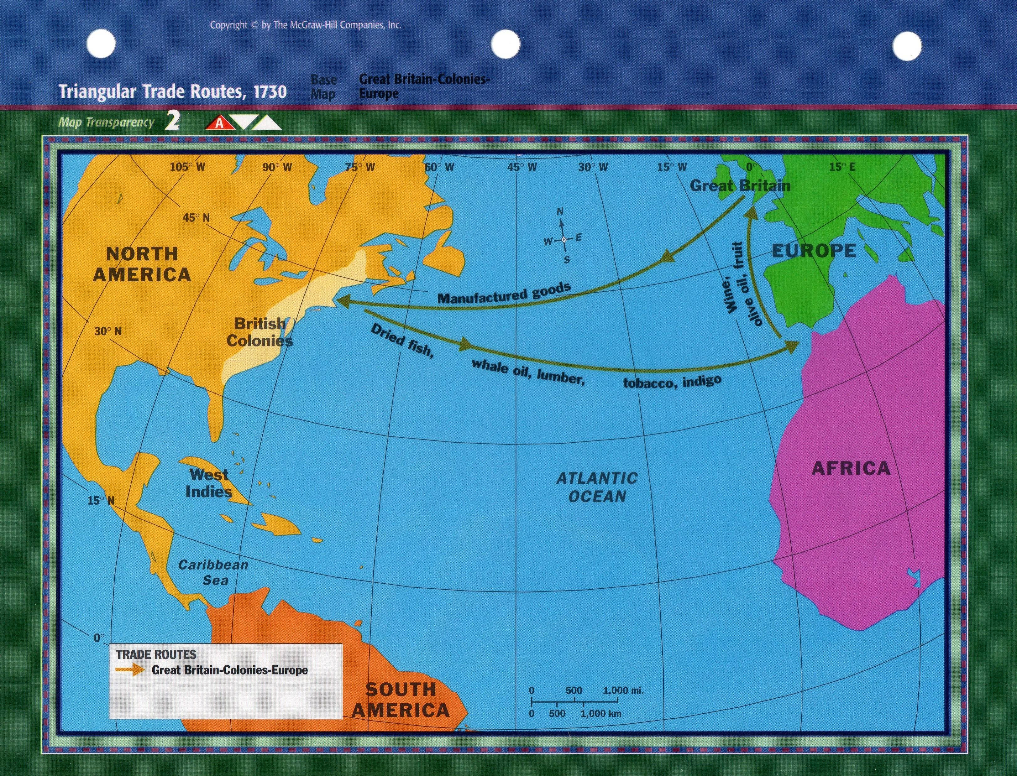 triangular trade worksheet