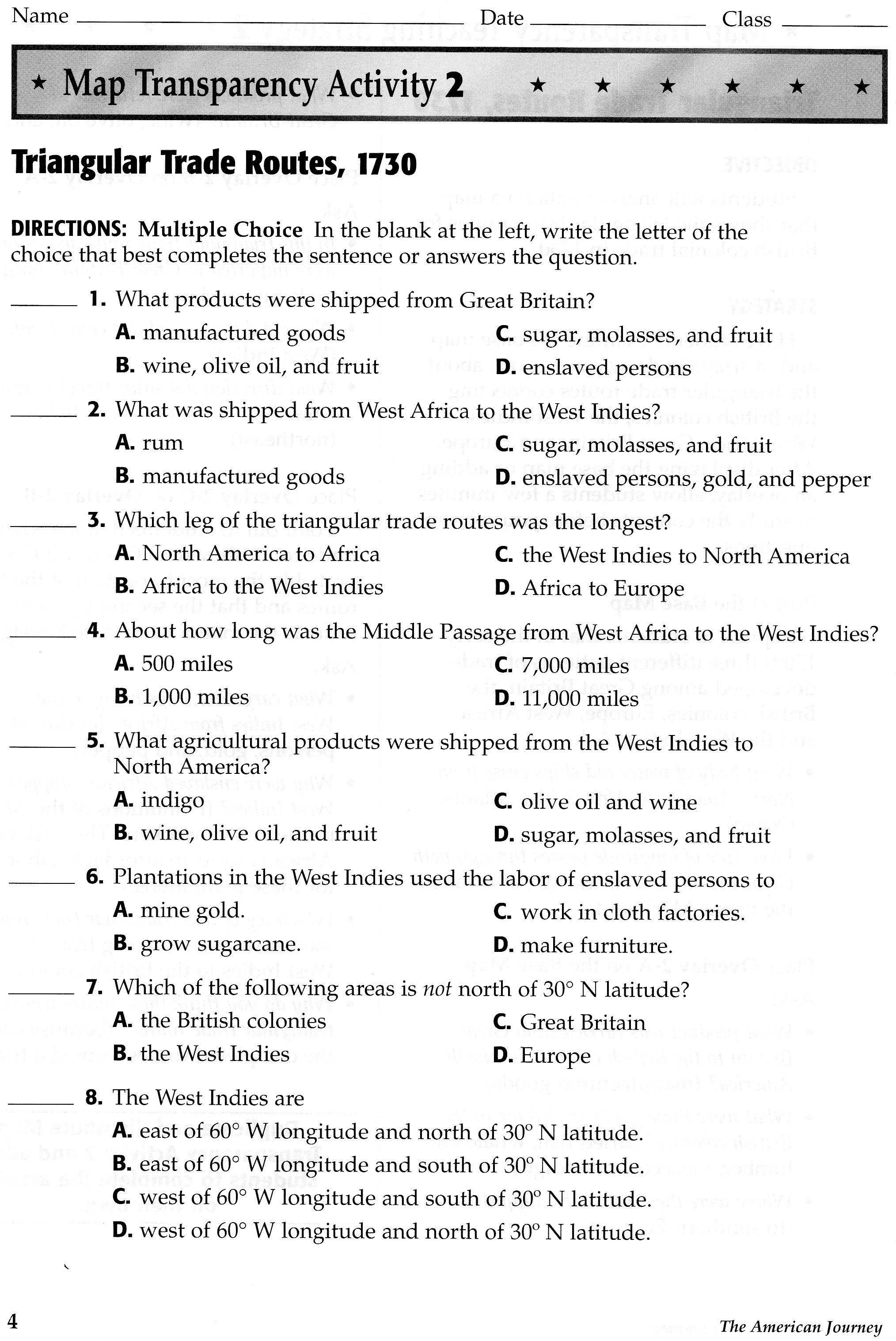west africa map worksheet
