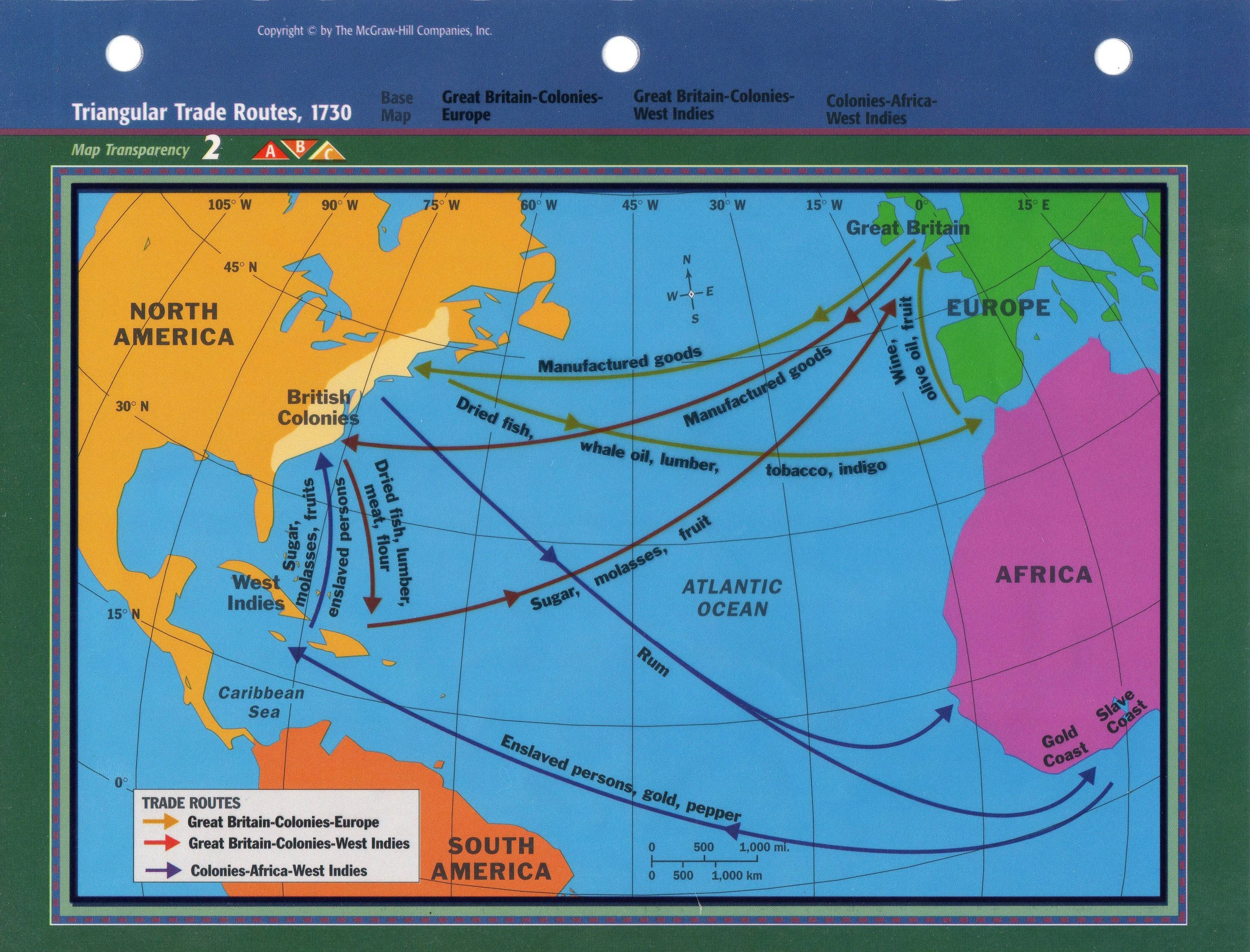 Triangular Trade Routes - Base Map