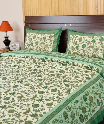 Elegant Printed Bed Sheet Bed Cover