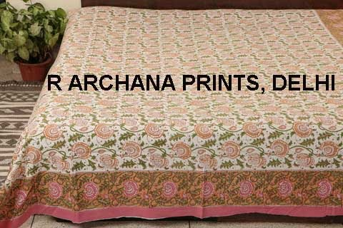 Beautiful Printed Bed Sheet Bed Cover