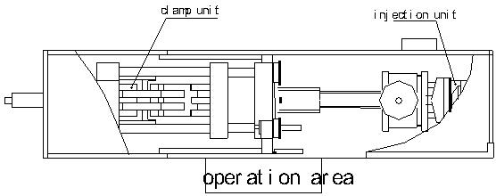 injection molding machine drawing