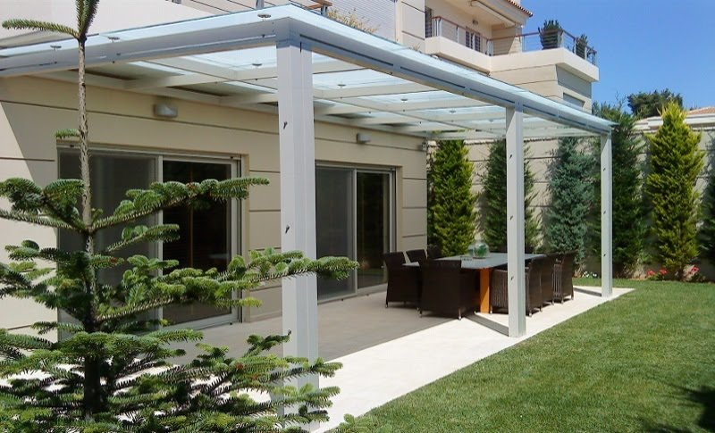 Dalcon skylights conservatories foldable glass roofs - Glas pergola ...