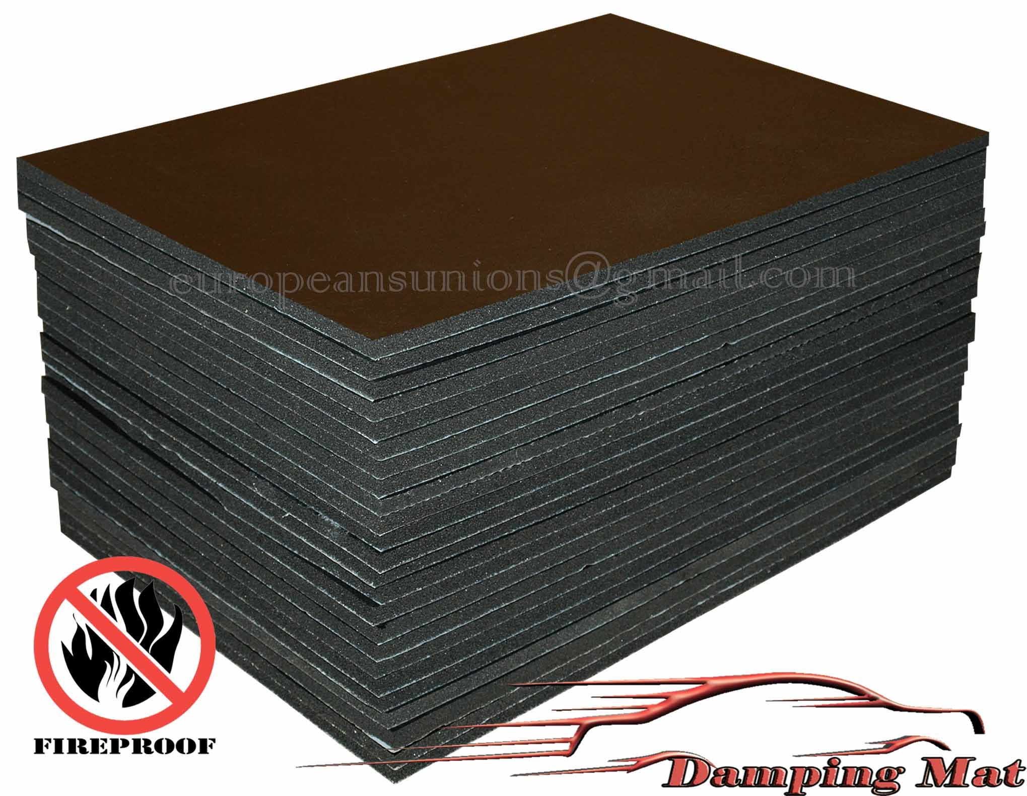 24 Sheets Car Sound Proofing Deadening Insulation Pads