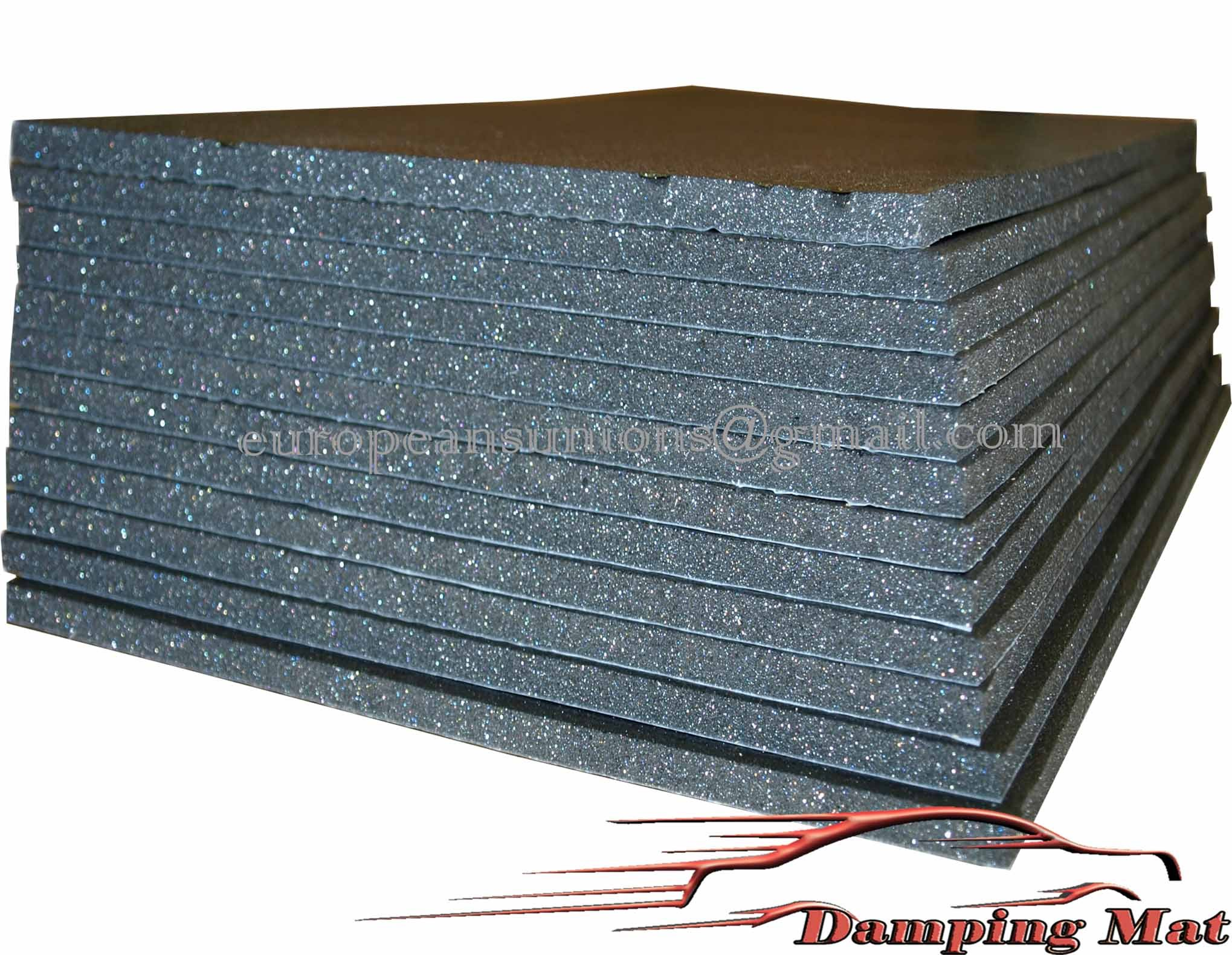 12 sheets 20 x10 auto car sound deadener heat On sound deadening material home