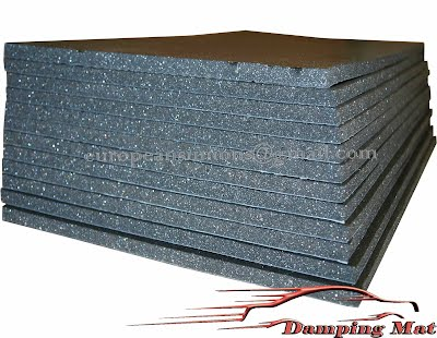 12 sheets car vehicle sound proofing deadening insulation closed cell foam 7mm damping mat. Black Bedroom Furniture Sets. Home Design Ideas
