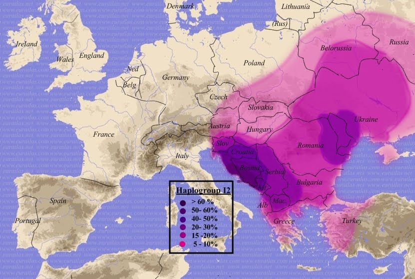 Spread of Y-DNA Haplogroup I2