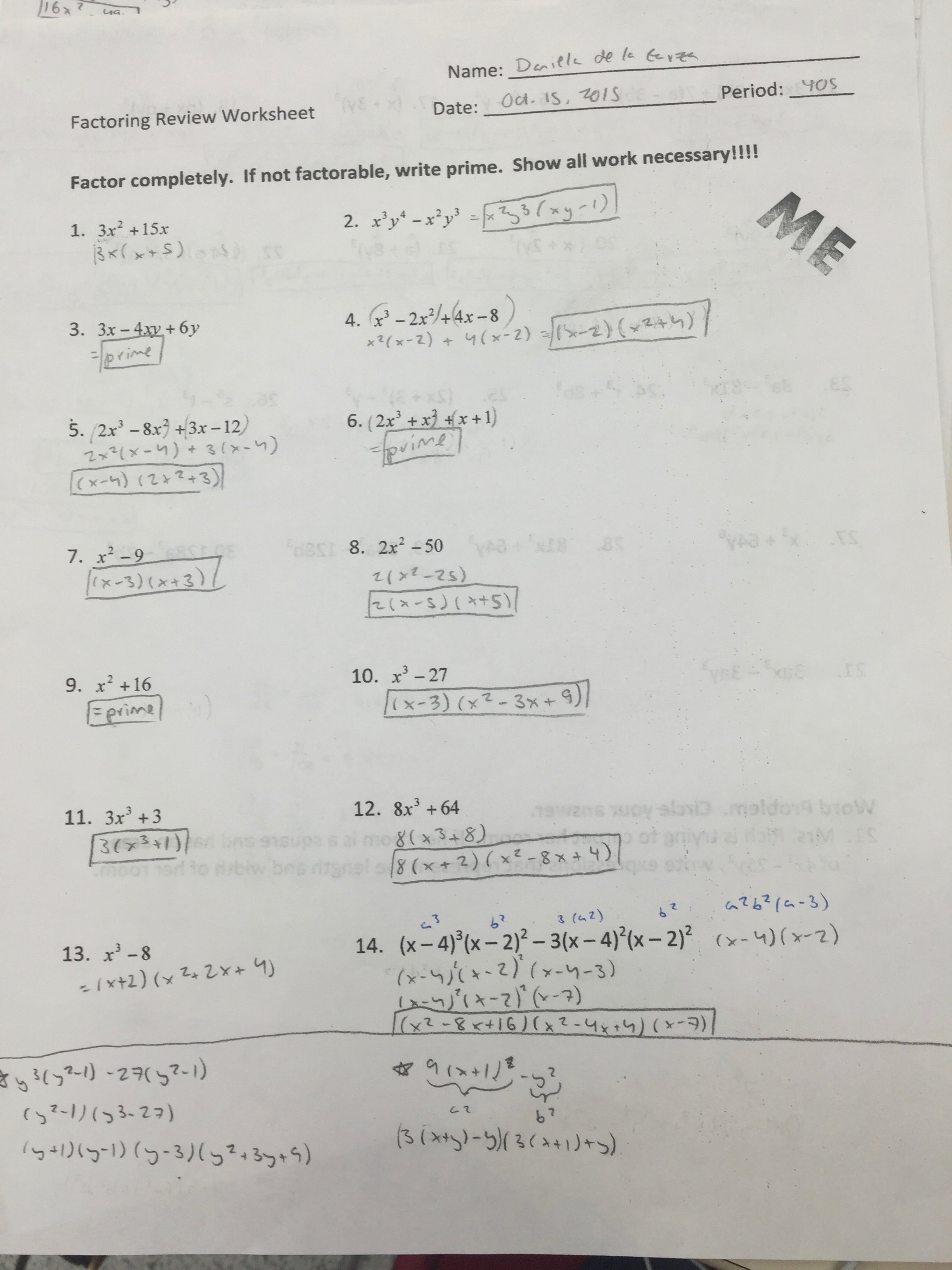 Printables Factoring Review Worksheet factoring review worksheet intrepidpath daniela de la garza 39 s math portfolio