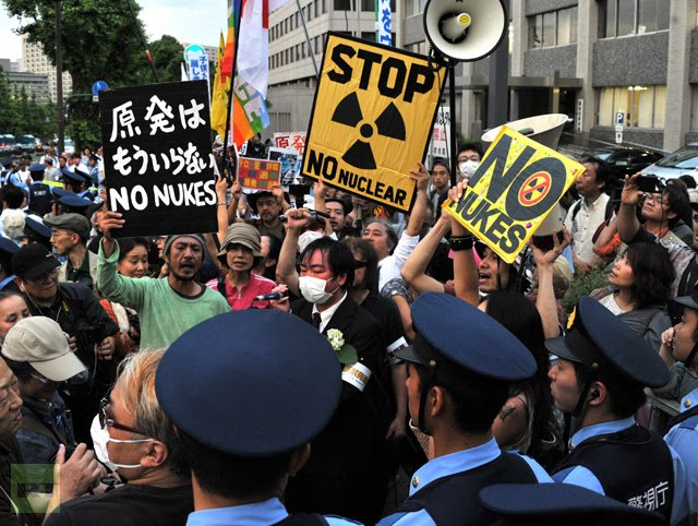 fukushima restart protest
