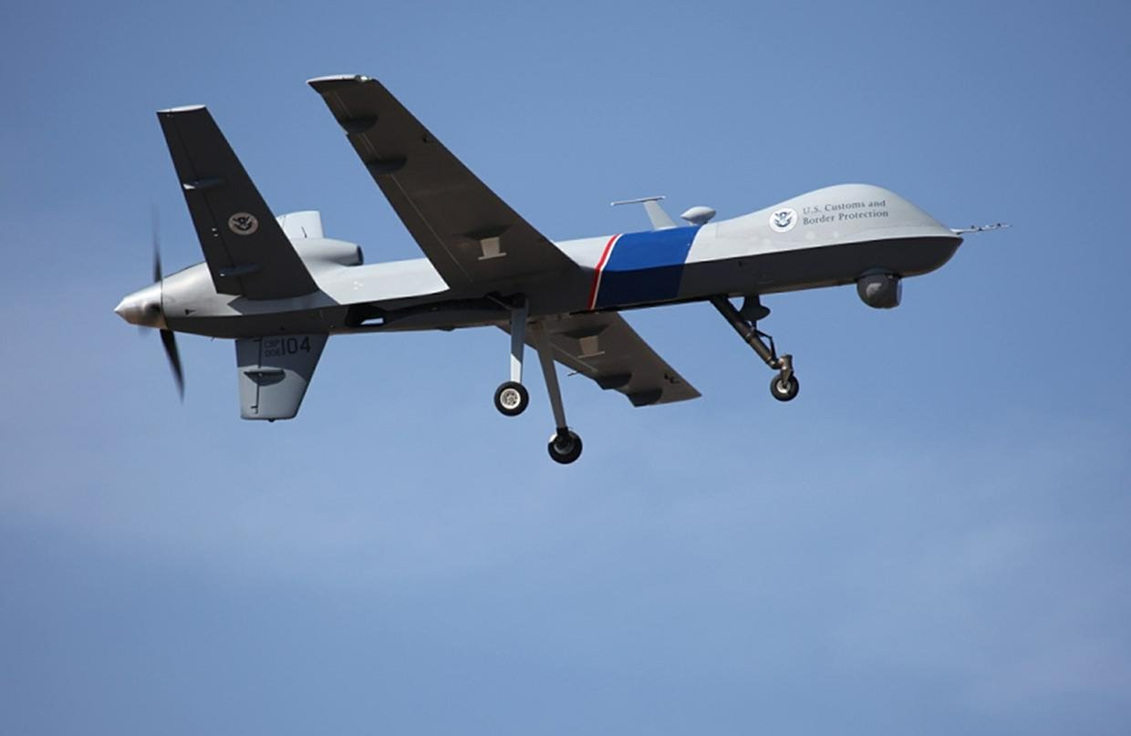 The federal government's unmanned drones patrolling the U.S