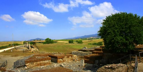 Naturalistic Archeological park of Vulci near Rome