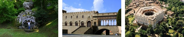 Guided tour in Viterbo, palazzo farnese and Monster Park