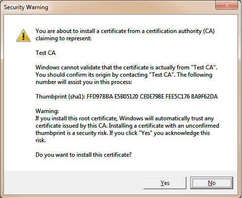 Create Your Own Certificate and CA - Web Service Security