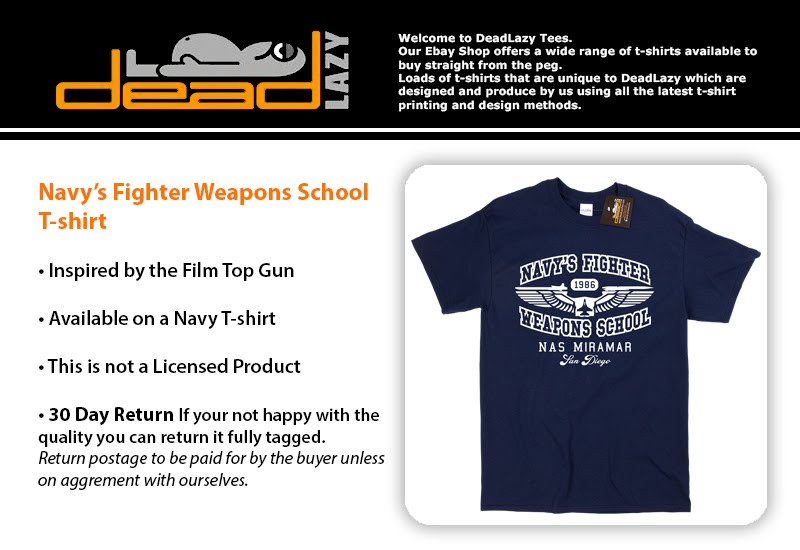 TOP GUN FLIGHT SCHOOL  T-Shirt camiseta  cotton officially licensed