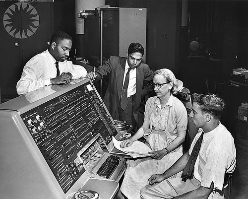 Photo of Grace Hopper and UNIVAC computer