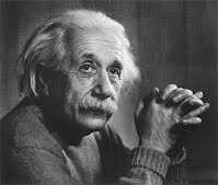 Photo of face and shoulders (Albert Einstein)