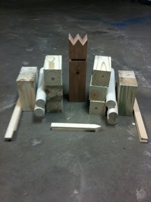 Home-made Kubb Set