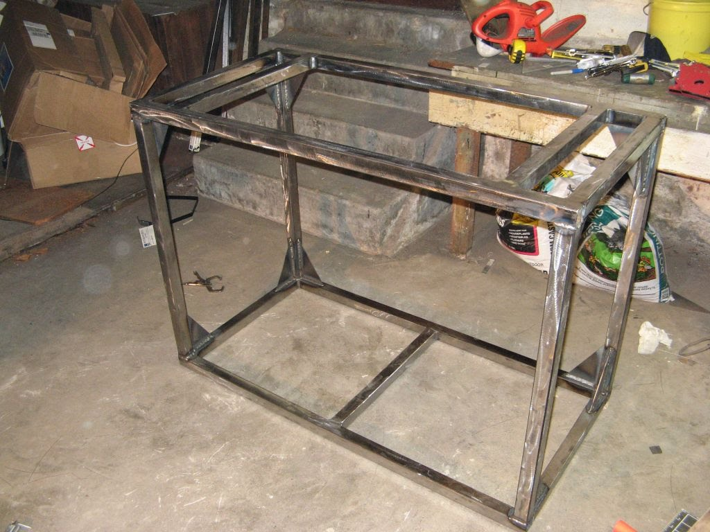 how to make a steel fish tank stand