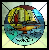 I am the Light of the World stained glass window