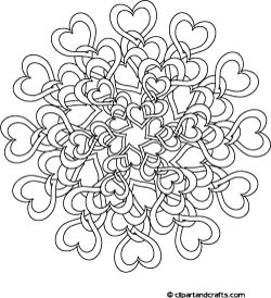 adult coloring design, tangled hearts pattern clipartandcrafts.com