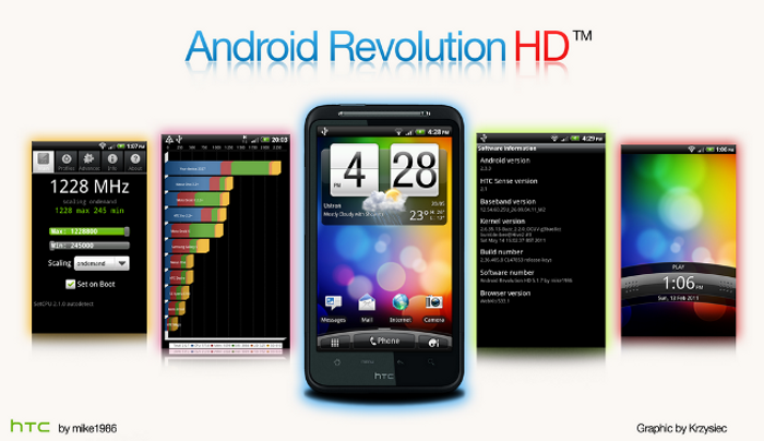 android revolution hd desire rom apps