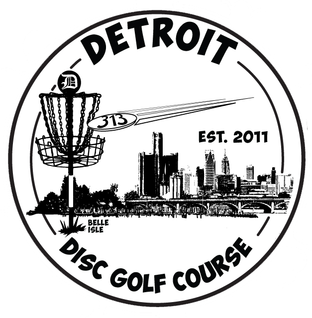 Large Detroit Disc Golf logo