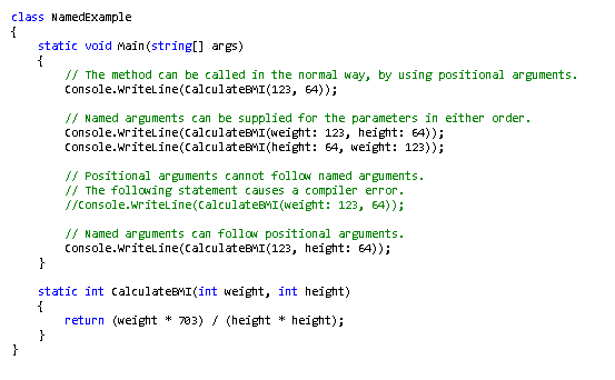C# Sample Code from MSDN