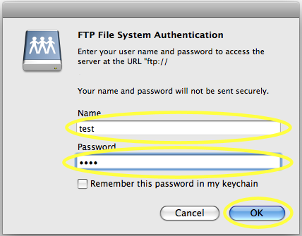 ftp file system authentication