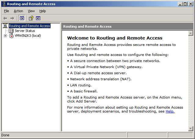 routing and remote access dialog