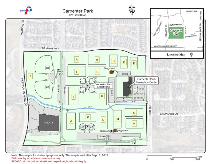 Carpenter Park Field Map Carpenter Park   DFW Tejanos