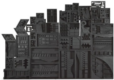 Unique Louise Nevelson Assemblage Dark Presence With Design Decorating