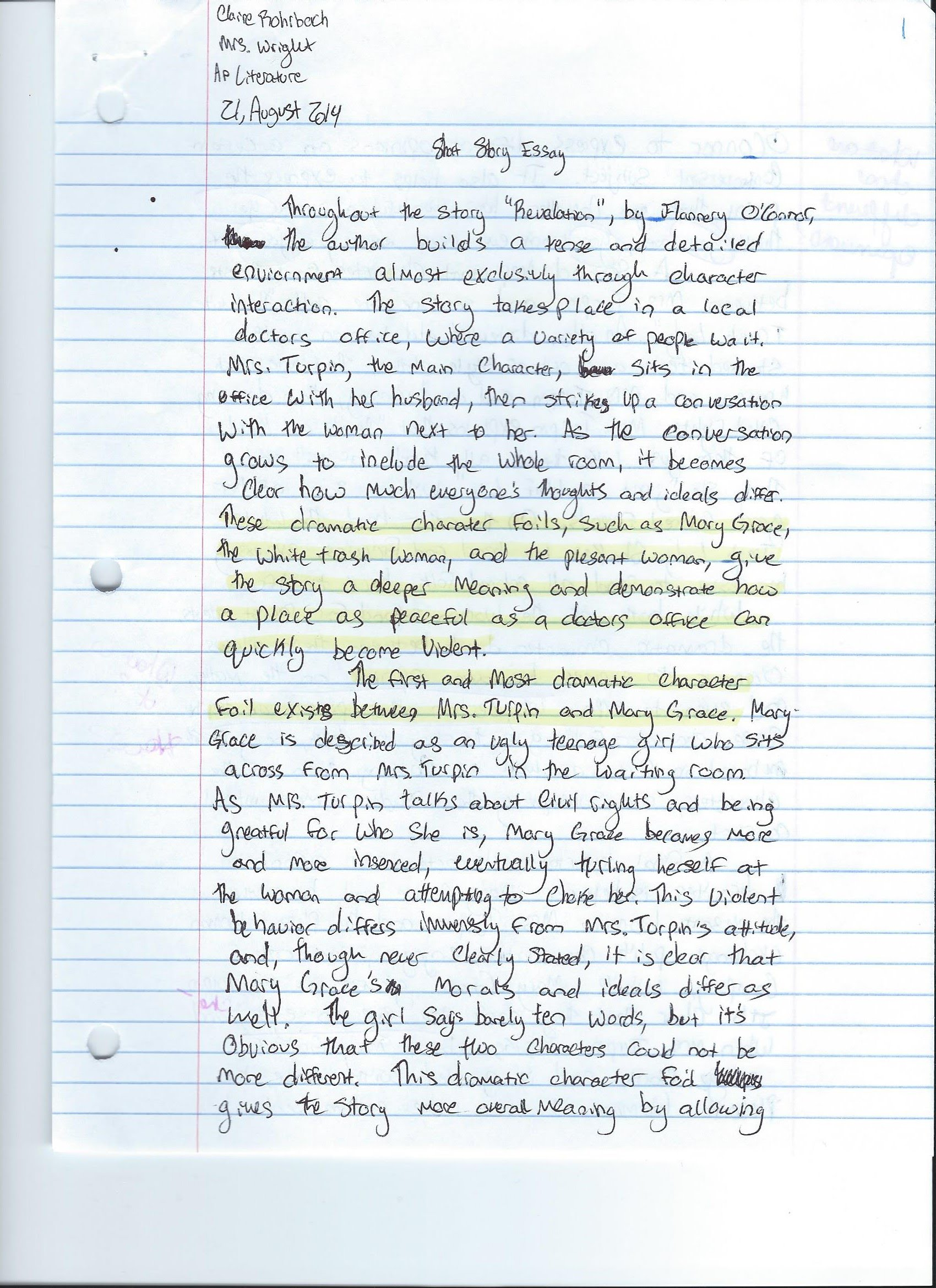 descriptive analysis of the essays and short stories On this page, we attempt to show you the skills our writers use to analyze a short story by using flannery o'connor's short story a good man is hard to find analyzing a short story here is an example, using flannery o'connor's a good man is hard to find, on how to go about analyzing a short story.