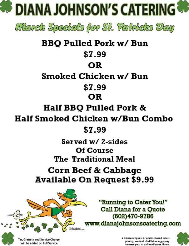 Check our March Specials!! Great time for a cookout at your business or nearest park! Employees love fresh grilled Hamburgers!