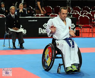 Franck Duboisse world champion kata 2014 (Karate for disabled)