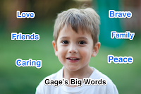 Matt Gomez's Kinders share MLK big words vocabulary.
