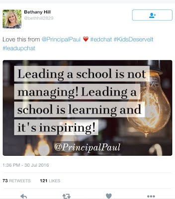 Tweet with #leadupchat